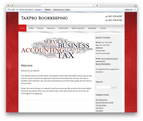 WordPress theme Customized - taxprobookkeeping.com