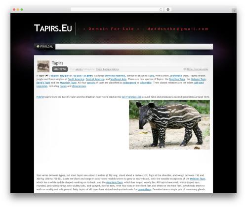 WordPress theme Mystique 2 - tapirs.eu