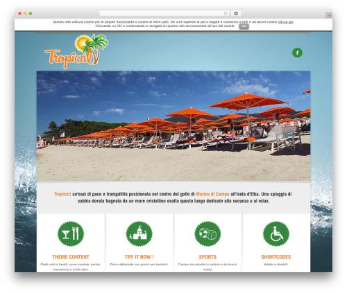 WordPress website template Arctica - tropicalelba.com