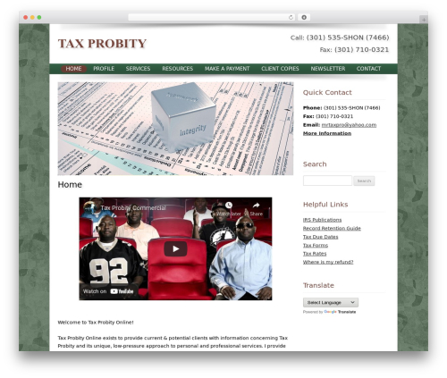 WordPress website template Customized - taxprobity.com