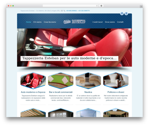 WordPress website template Limuso - tappezzeriaesteban.com
