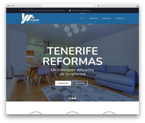 WP template TheFox - tenerife-reformas.com