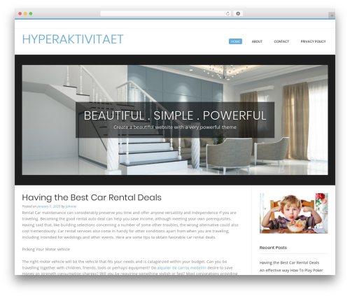 Conica best free WordPress theme - hyperaktivitaet.net