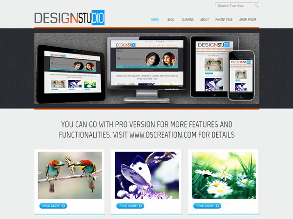 D5 Design business WordPress theme