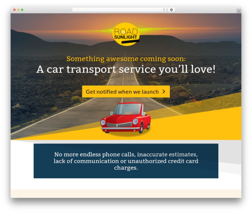 Divi WordPress template for business - road-to-sunlight.com