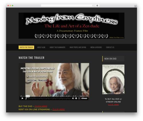 Noise WordPress movie theme - zendudemovie.com