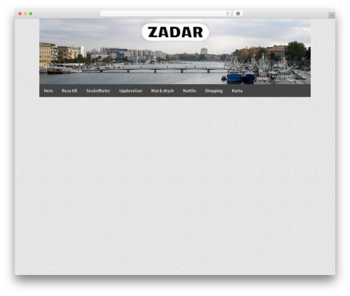 Responsive Pro WordPress theme design - zadar.se