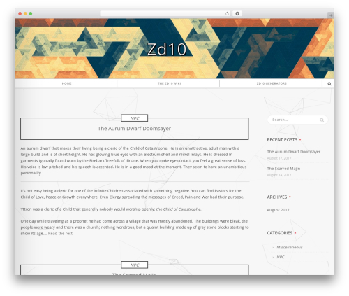 Shadower free WordPress theme - zd10.net