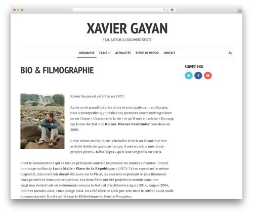 Template WordPress Shamrock - xaviergayan.com