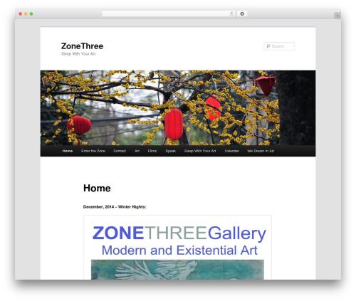 Twenty Eleven free WordPress theme - zonethreegallery.com