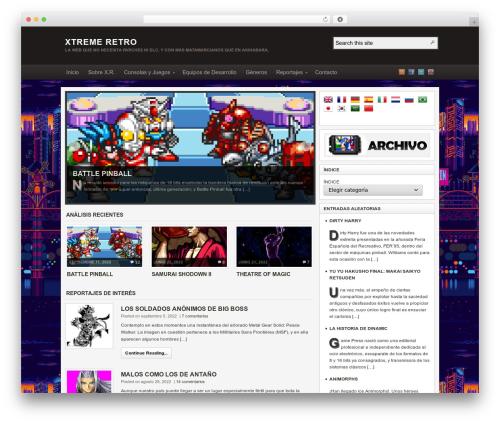 Arras WordPress website template - xtremeretro.com