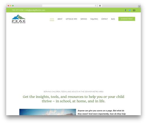 Avada template WordPress - peakgifted2e.com