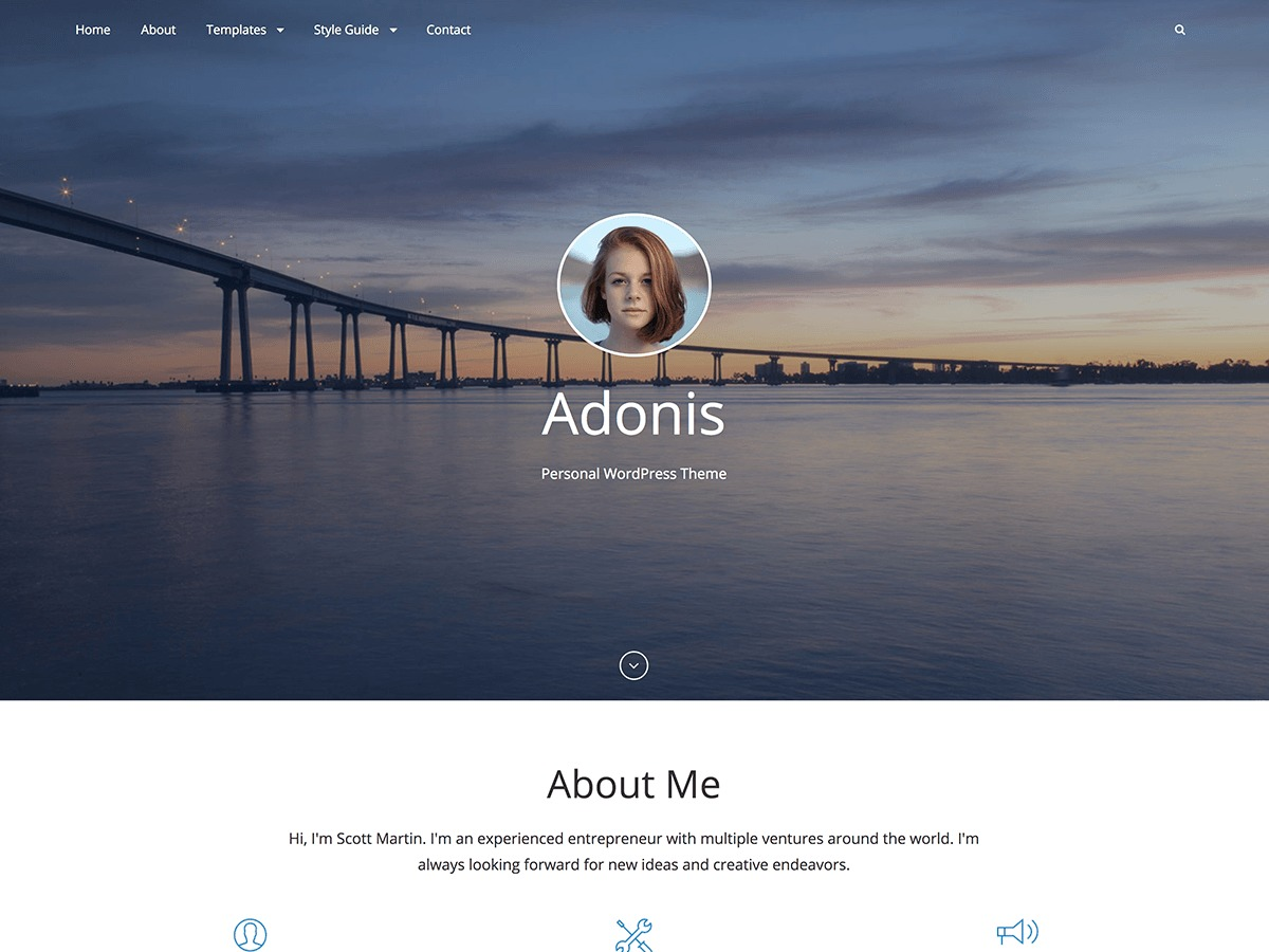 Template WordPress Adonis