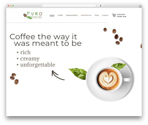 Theme WordPress Hot Coffee - purocoffeebrands.com