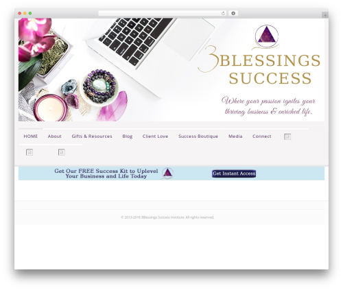 Theme WordPress Sistina - 3blessingssuccess.com