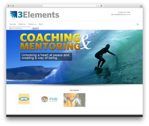 Shoptan WordPress shop theme - 3elements.co.za