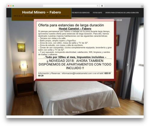 SKT Hotel Lite WordPress template - hostalcamelot.com