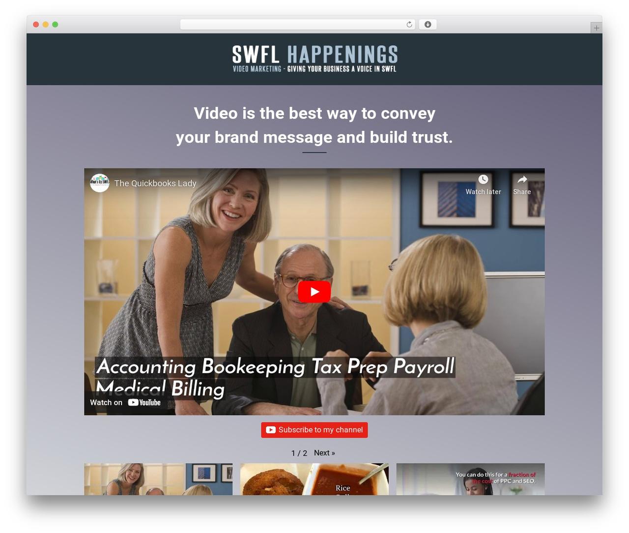 Veda WordPress template - swflhappenings.com