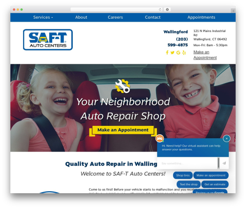 Autoshop Solutions Child WordPress ecommerce template - saftauto.com