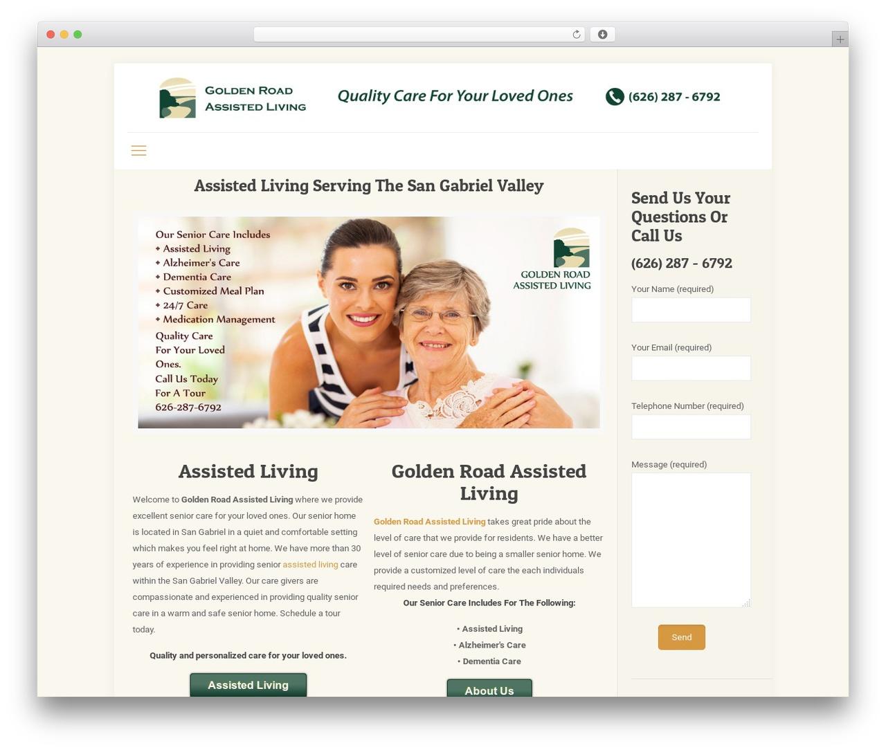 Betheme WordPress theme - goldenroadliving.com