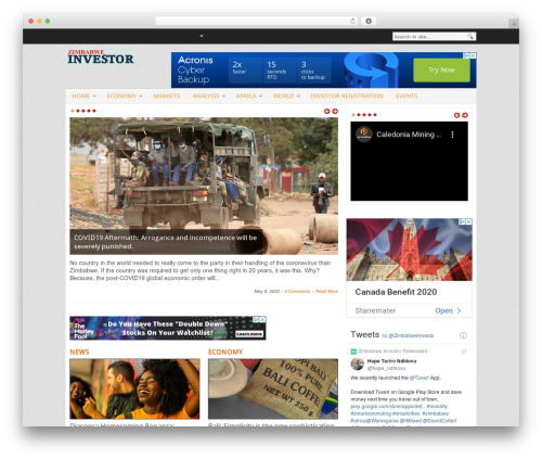 Blognews WordPress blog theme - zimbabweinvestor.com
