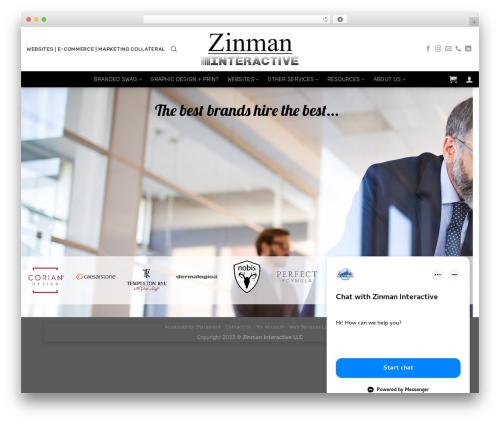 Flatsome WordPress theme - zinmaninteractive.com