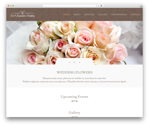 Klasik WordPress theme - 30asignaturewedding.com