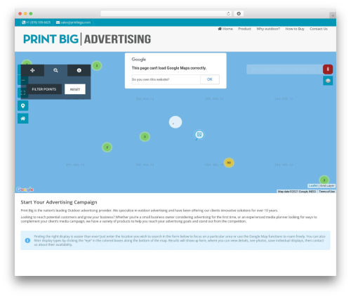 Pointfinder WordPress page template - outdooradvertisingjamaica.com