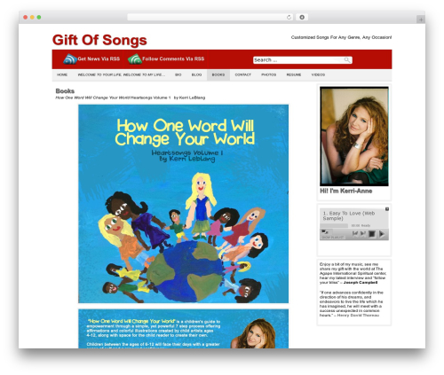 Producer top WordPress theme - giftofsongs.com/books