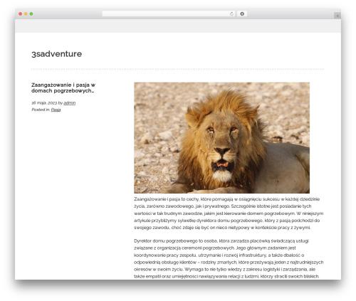 Sans-serif WordPress page template - 3sadventure.pl