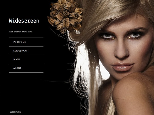 Widescreen top WordPress theme