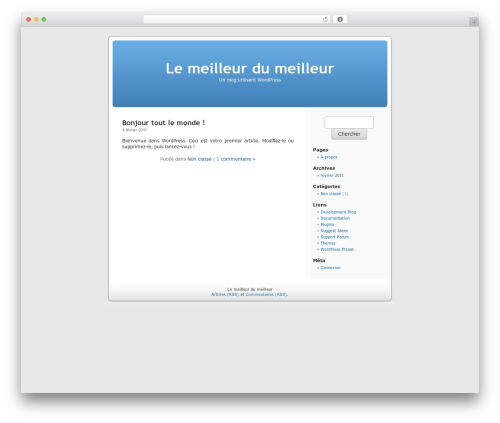 WordPress Default Fr WordPress theme - 500euro.fr