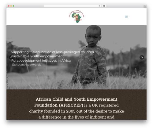 WP template Betheme - africyef.org