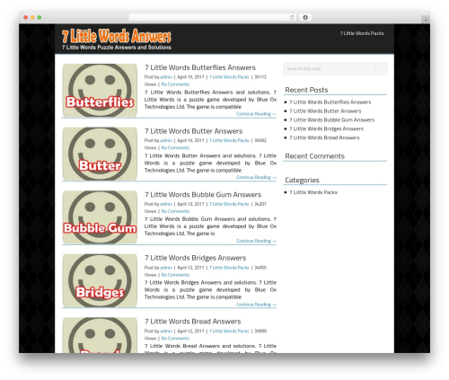 NicheSmart V301 WordPress theme - 7littlewordspuzzle.com