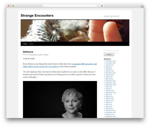 Theme WordPress Twenty Ten - xenobiologista.com
