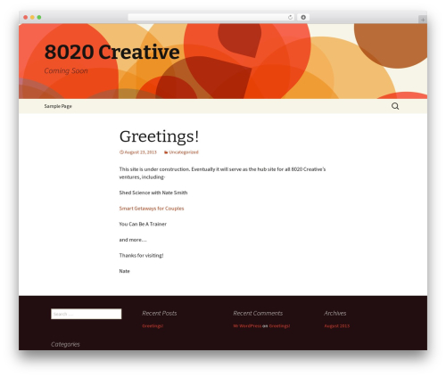 Twenty Thirteen best free WordPress theme - 8020creative.com