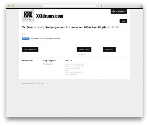 WP FlexiShop WordPress store theme - xxldrums.nl