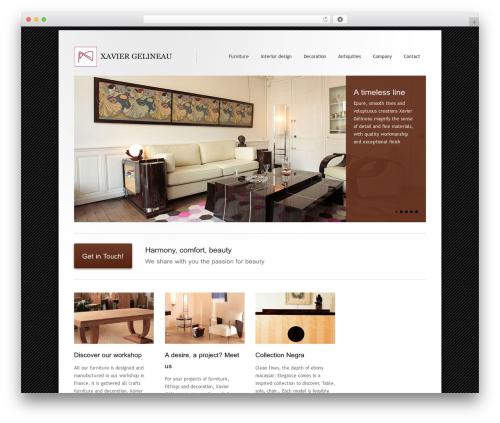 Best WordPress theme Class - xaviergelineau.com