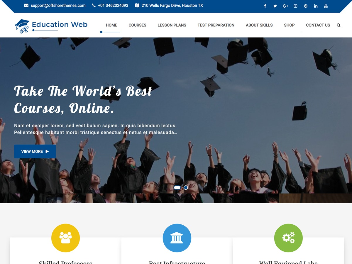 Education Web best WordPress template