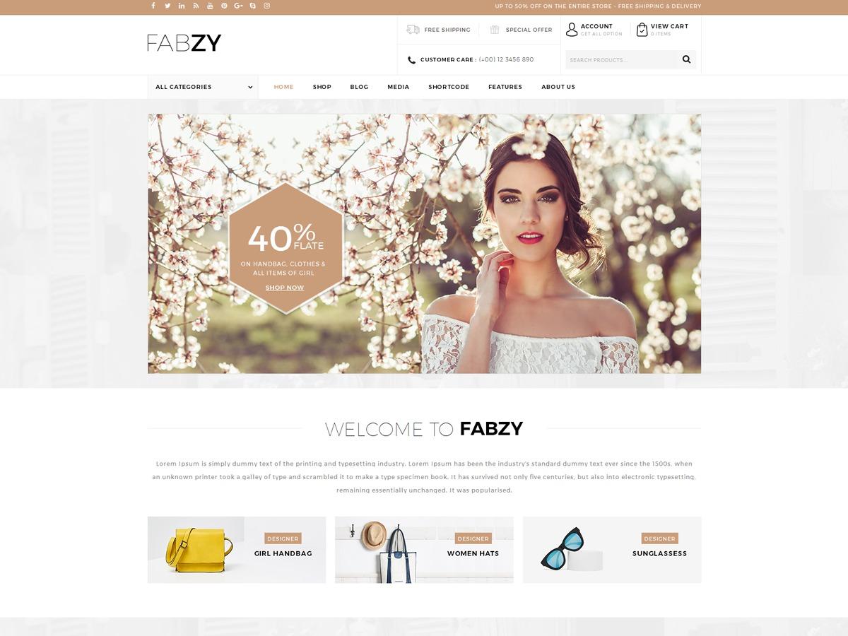 Fabzy WordPress magazine theme