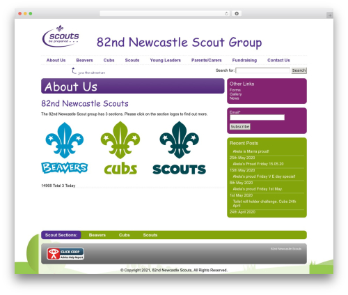 Scout IT! best WordPress theme - 82ndnewcastle.org.uk