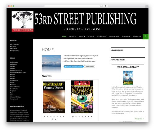 Twenty Fourteen free WordPress theme - 53rdstreetpublishing.com