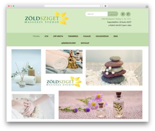 WordPress template Dream Spa - zoldszigetmasszazs.com