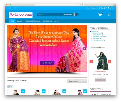 WordPress template Giga Store - resaree.com