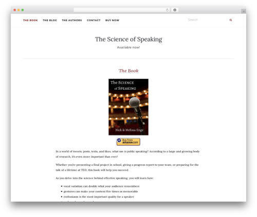 Activello best free WordPress theme - scienceofspeaking.com