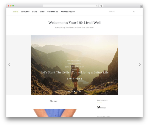 Activello WordPress theme download - mylifelivedwell.com
