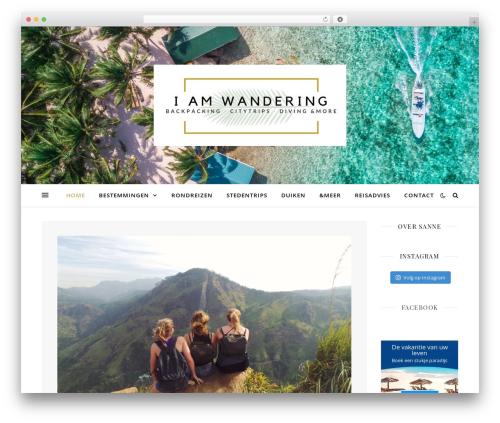 Ashe WordPress blog template - iamwandering.com