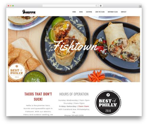 Best WordPress template Sage - heffetacos.com