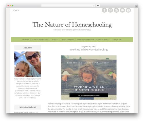 Best WordPress theme Lucy and Lane - Premium - thenatureofhomeschooling.com