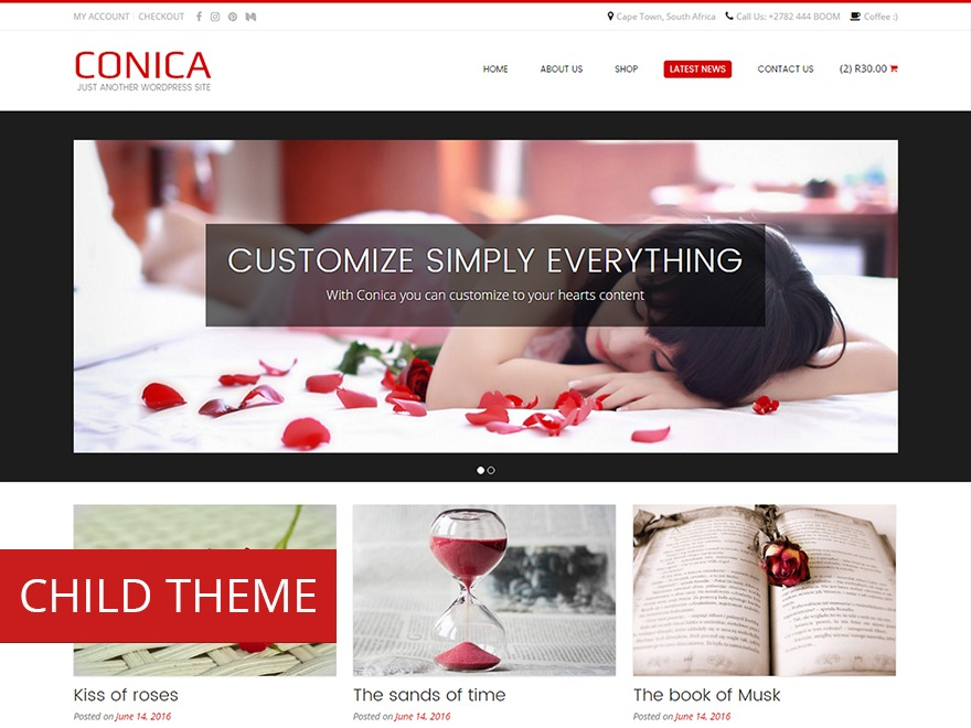 Conica Child WordPress template